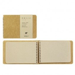 Spiral ring notebook -Camel-