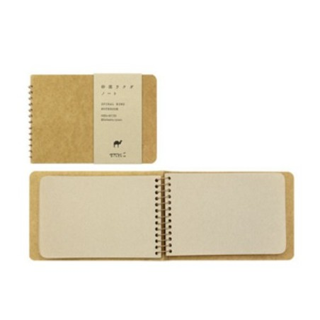 TRC Spiral ring notebook B6 Camel kraft blank