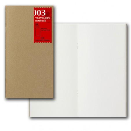 003 TN Regular Refill blank Notebook Basic Item TRC