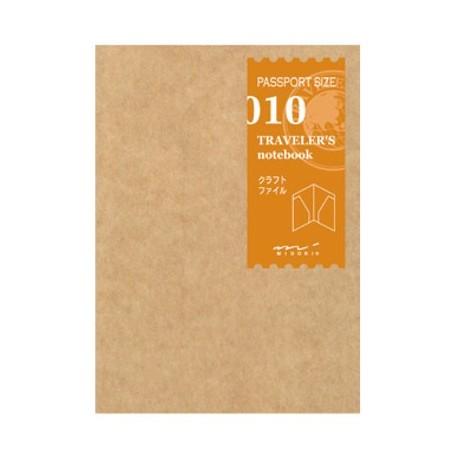 010 Bolsillos papel Kraft (Tamaño Pasaporte) TRC