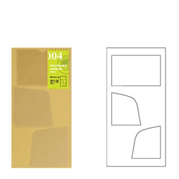 004 Bolsillos adhesivos (Tamaño original y pasaporte)