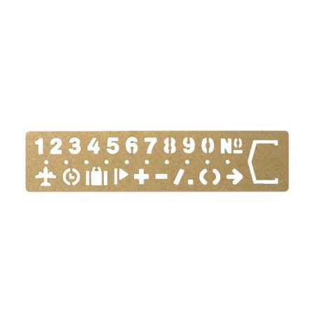 TRC Brass Template Bookmark Number