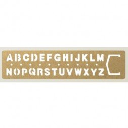 Brass Ruler with letters.