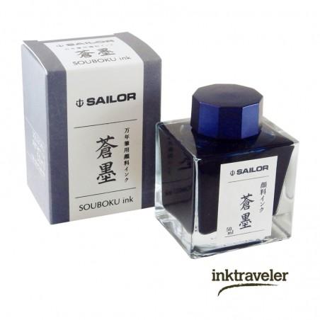 Tinta de Registrador Souboku (Pigment ink) Azul/Negro Sailor