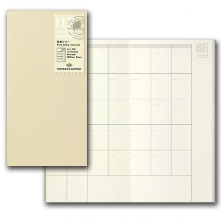 017 TN Regular Refill Free Diary (Monthly) TRC