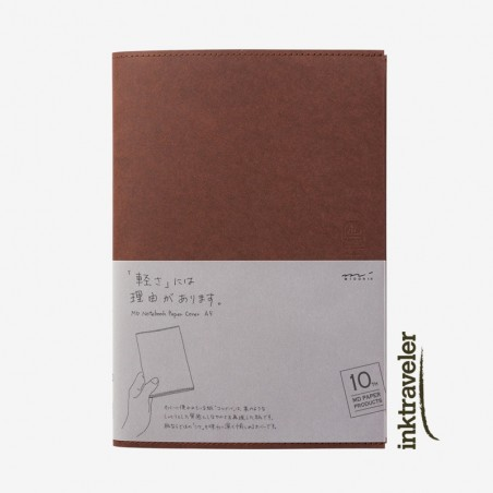 A4 Midori Cover Paper 10th Paper Dark Brown for MD Notebook