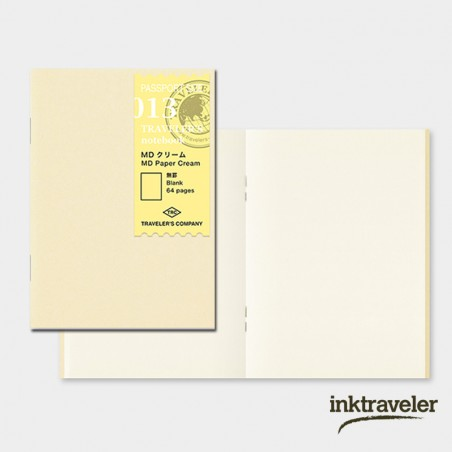 013 Recambio papel MD crema (Tamaño Pasaporte) TRC