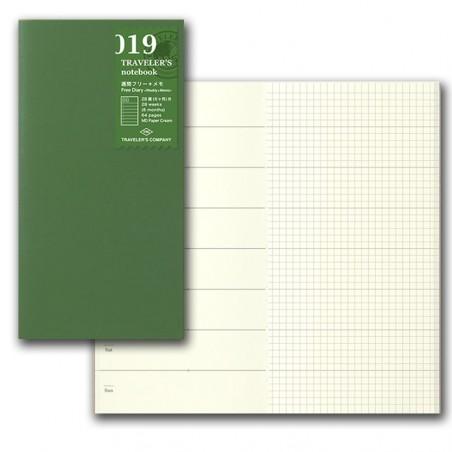 019 TN Regular 019 Refill Free Diary Weekly + Grid Notebook TRC