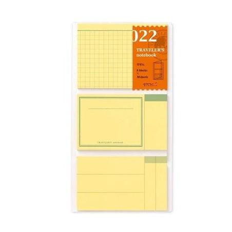 022 TN Regular 022 Refill Sticky Memo Pad TRC