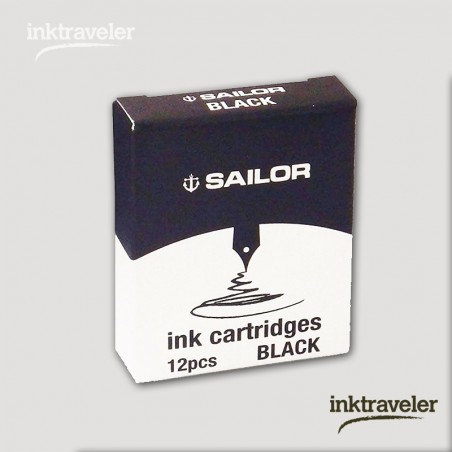 Box 12 cartridges Jentle ink Black