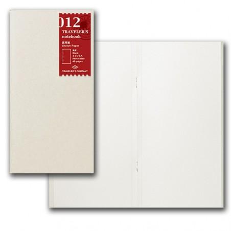 012 Sketch paper notebook. (Regular size)