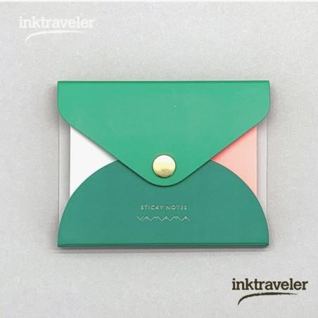 Yamama Notas adhesivas con cubierta verde