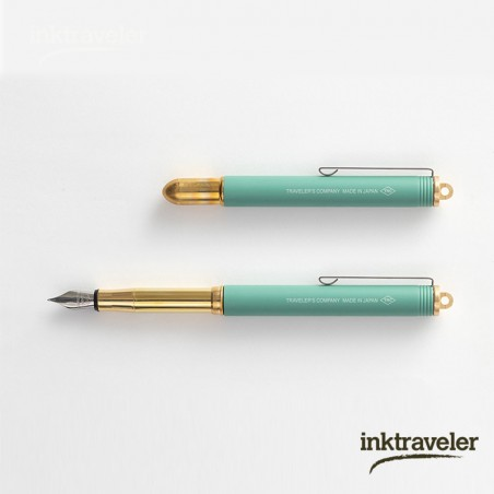 TRC brass fountain pen Factory Green limited edition
