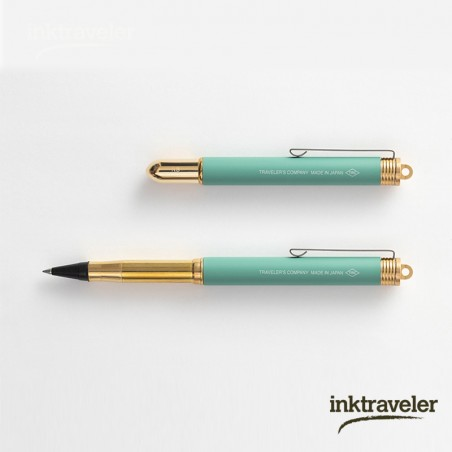 TRC brass rollerball pen Factory Green limited edition