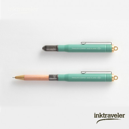 TRC brass ballpoint pen Factory Green limited edition