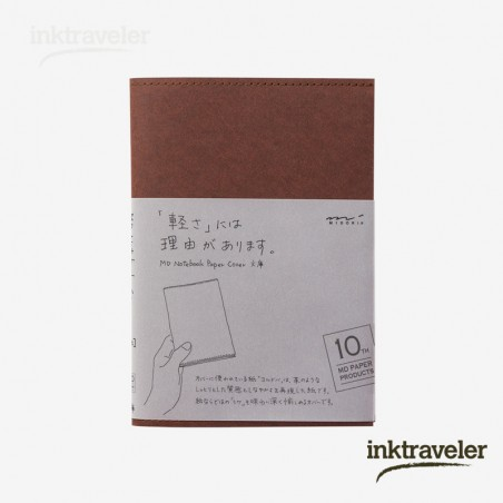 A6 Midori Cover Paper 10th Paper Dark Brown for MD Notebook