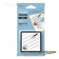 Paintable stamps Fountain pen