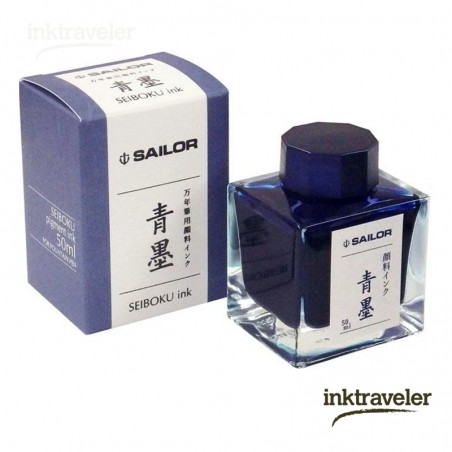 SeiBoku Pigment ink (Blue / Black) Sailor