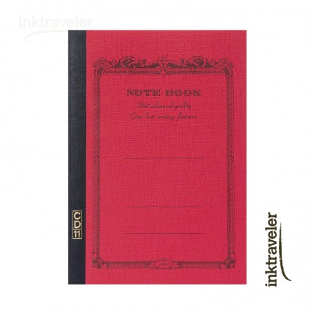 A5 Apica CD cuaderno rojo rayado