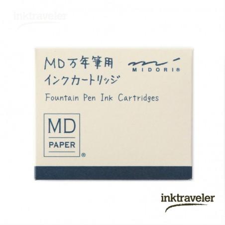 Caja 6 Cartuchos tinta azul negro Midori