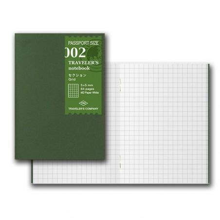 002 Recambio papel MD Cuadriculado (Tamaño Pasaporte) TRC