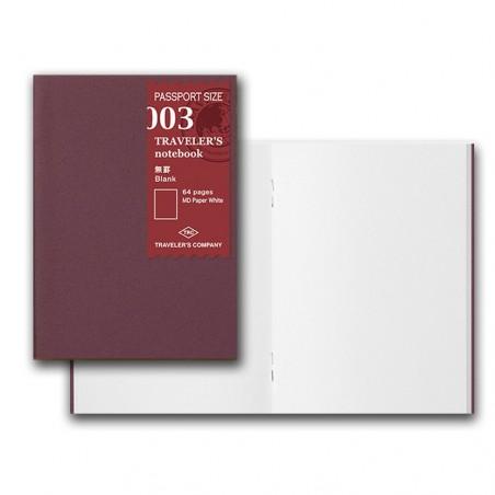 003 TN passport 003 Refill blank Notebook Basic Item MD paper