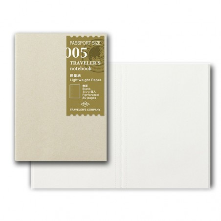 005 Recambio papel Ligero Liso (Tamaño Pasaporte) TRC