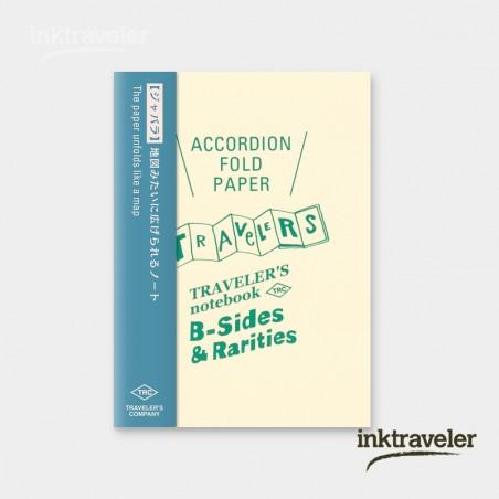 TN Recambio papel acordeón plegado tamaño pasaporte TRC