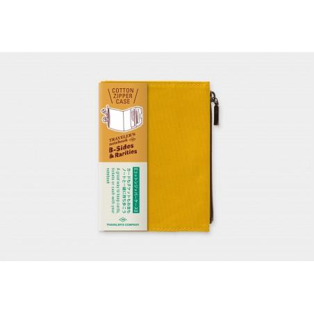 TN passport Size Cotton Zipper Case mustard