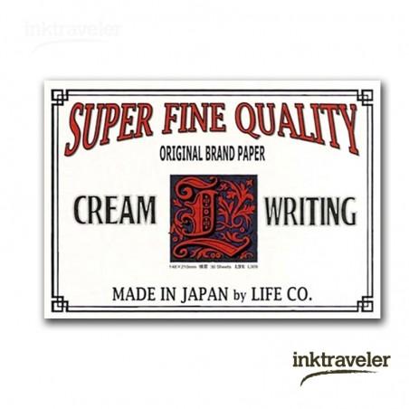 A5 L paper life cream ruled pad