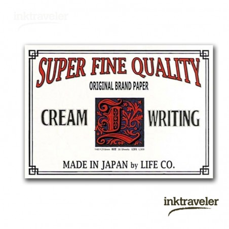 A5 L paper life pad crema rayado