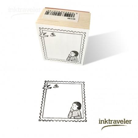 Goat x Masco Eri Rubber Stamp - Postage Stamp