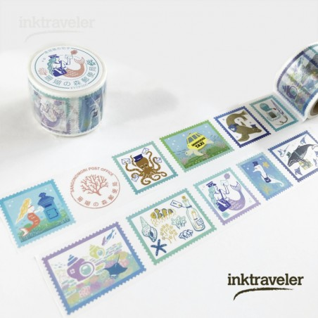 KYUPODO POST OFFICE WASHI TAPE - CORAL REEF STAMPS