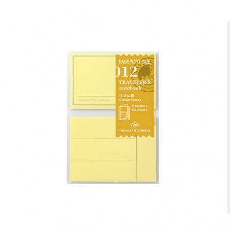 012 notas adhesivas (Tamaño Pasaporte) TRC