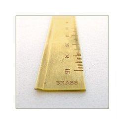 Regla de Latón milimetrada. 15cm