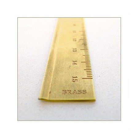 TRC regla latón milimetrada 15 cm