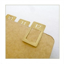 TRC Brass Clips numbers