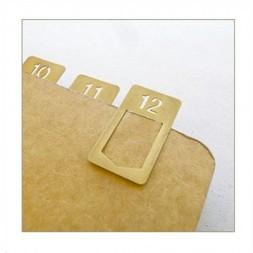 TRC clips números latón