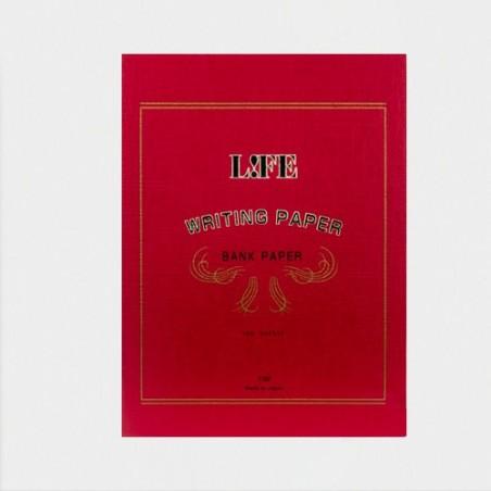 A5 LIFE Bank Paper  Cubierta Roja