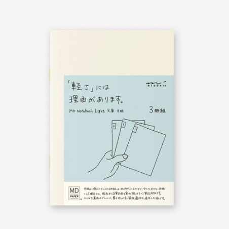 A5 midori pack 3 cuadernos cuadriculado MD paper