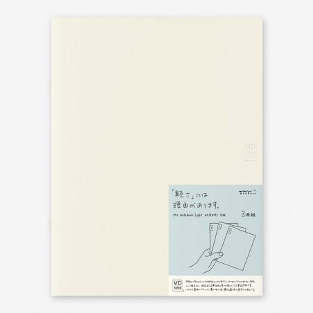 A4 midori pack 3 Notebook Light grid MD paper