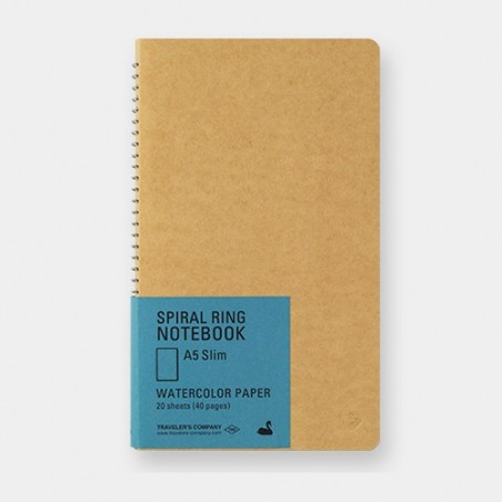 TRC Spiral Ring Notebook A5 Slim Watercolor Paper blank Swing