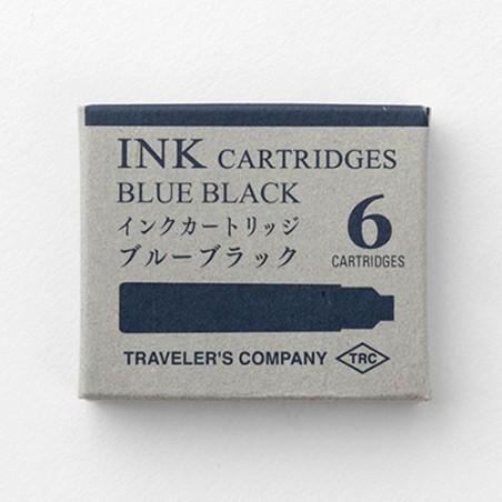 TRC Caja 6 Cartuchos tinta azul negro