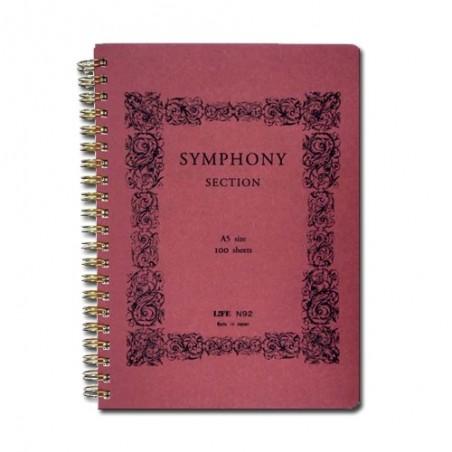 A5 Life Symphony 100 Páginas cuaderno Cuadriculado