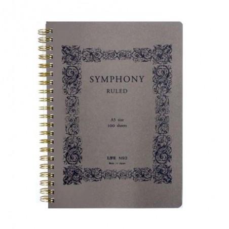 A5 Life Symphony 100 Páginas cuaderno Rayado