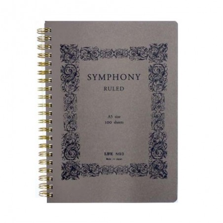 A5 Life Symphony 100 Sheets notebook Ruled