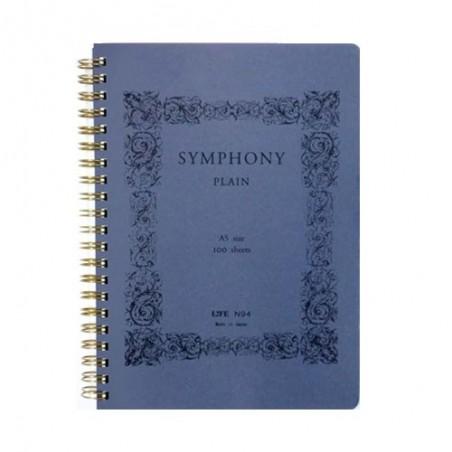 A5 Life Symphony 100 Sheets notebook Plain